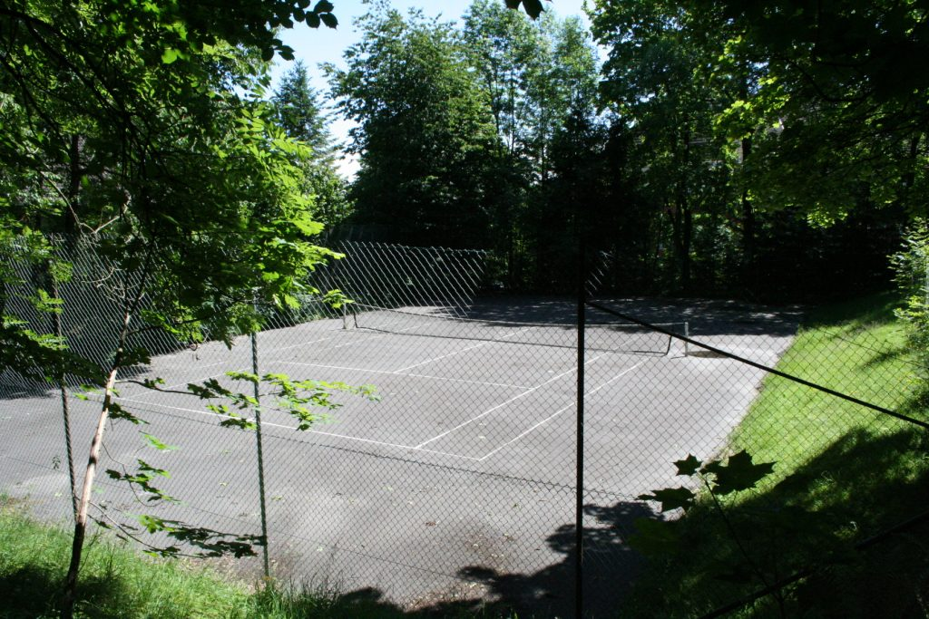 Unser Tennisplatz im Garten